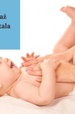 masaż Shantala antykolkowy niemowląt